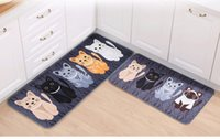 Wholesale New Kawaii Welcome Floor Mats Animal Cute Cat Print Bathroom Kitchen Carpets House Doormats for Living Room Anti Slip Tapete Rug