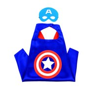 baby superhero costume - Kids cape with mask cloak kids superhero boy children baby costume cosplay birthday super hero capes mask