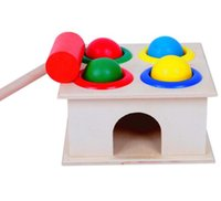 Wholesale High quality Wooden Ball Hammer Children Early Learning Educational Toys