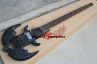 Wholesale High Quality Anchor the headless special shaped electric bass matte black From China factory outlet
