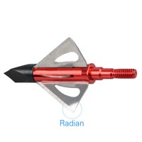 Wholesale 3 Red Radian Blade Broadheads Grain Archery Arrow Heads Hunting Points