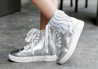 Acheter Enfants enfants chaussures ailées-2016 Nouvelles chaussures de filles de toile d'ailes de haut-dessus d'espadrilles d'enfants de mode pour des enfants Chaussures d'hiver et d'automne