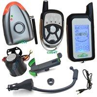 Sistema de alarma a distancia un coche Baratos-El sistema de alarma de dos vías del coche del cardot DIY está con la alarma de choque y la alarma de la presión de aire, la sirena sin hilos de la alarma, el telecontrol del LCD es con la alarma ligera y de sonidos
