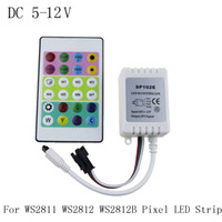 Wholesale IR remote controller DC V v for WS2812 RGB LED strip Test WS2812B WS2811 WS2812 Pixel LED Strip Light Keys Mini Controller