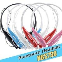 Wholesale HBS HBS730 Stereo Bluetooth Headset Wireless Earphone Neckset Sport Neckband Headphones For iPhone SAMSUNG Galaxy MQ30