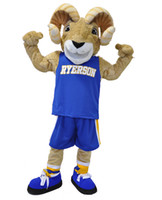 Wholesale OISK Color Red Blue Ram Ryerson Mascot Costumes Sport Team Halloween Party Outfit Cartoon Character Xmas Carnival Suits Adult