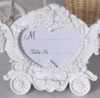 Wholesale White pumpkin carriage photo frame place card holder The new European style wedding seats in return gift