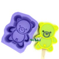 Wholesale Best selling silicone mold bear ice cream mold