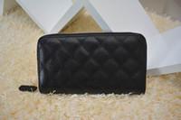 Wholesale famous brand genuine Leather wallets Women classic Luxury diamond lattice CM short wallet