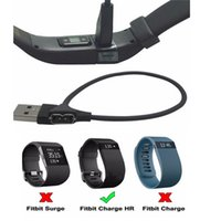 Wholesale 30CM USB Charger Charging Cable For Fitbit Charge HR Smart Wristband Replacement cables