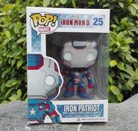 Wholesale Funko POP Marvel War Machine Iron Man Action Figure Iron Patriot Robot Vinyle Avengers Model Toy Collectibles Boys Gift