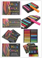 Wholesale Hot Fashion Healthy Crayons For Hair Color Fast Non toxic Temporary Pastel Hair DIY Painting Extension Dye Chalk
