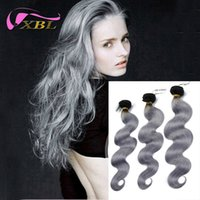Cheap Silver Grey Ombre Human Hair Extensions Best human hair