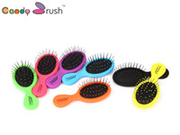 Wholesale Brand New High Quality Rainbow Color Candy Brush For Wet Hair Mini Plastic Hair Brush Detangle Hair Without Pain