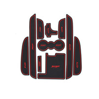 Wholesale 10pcs Non Slip Rubber Interior Car Door Armrest Storage Panel Mat Cup Holder Slot Pad Cover Sticker For Jaguar XF