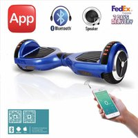 app battery - 6 inch Samsung Battery Electric Scooters With App LED light Bluetooth Hoverboard Electric Skateboard Self Balancing Scooter