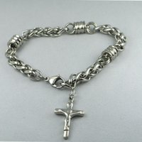 asian weights - KT Stainless steel bracelet jewelry jewelry trade fashion style Jesus width mm Length mm Weight g