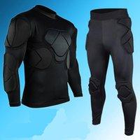 Wholesale 2016 new men s soccer goalkeeper sets thick helmets sponge comprehensive goal keeper motorcycle protector uniforms training suit