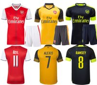 Wholesale Arsenal home away rd jersey kit Giroud Ozil Alexis Cazorla Football shirt La Liga Uniforms