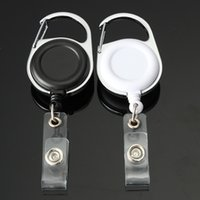 Wholesale 200 Retractable Pull Key Ring Chain Reel ID Lanyard Name Tag Card Badge Holder Reel Recoil Belt Key Ring Clip