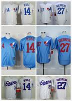 baseball montreal - 14 Pete Rose Vladimir Guerrero Montreal Expos Baseball Jersey Blue White Premier Stitched Expos Men Throwback Jerseys