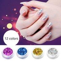 Wholesale Hot Beauty Colors UV Gel Acrylic DIY Glitter Decoration Nail Art Sequins Powder Set