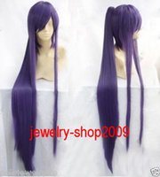 Cheap FREE SHIPPING Hot heat resistant Party hair>>>New Cosplay Long vocaloid miku Purple Clip On Ponytail Wig