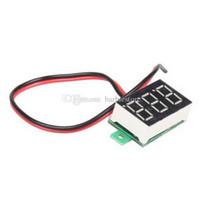 Wholesale Mini DC V Yellow LED Digital Display Voltage Voltmeter Panel Motor B00260 CADR
