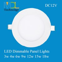 Wholesale LED panel lights Round W W W W W W W led recessed ceiling lights led spotlights indoor led lights Solar DC12V