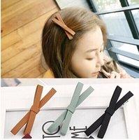 Wholesale Fabric ribbon clip edge clip Korean fashion headdress duckbill clip word clip with colors