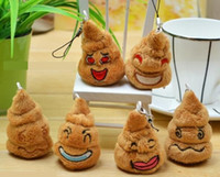 Wholesale Shit Poop Emoji Pendant Charm poop cell phone strap and charm Poop Key Chain keyring pendant Stuffed Plush poop model No pend01