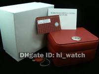 aqua paper - New Cheap Planet Ocean M Aqua Terra M DeVILLE Automatic Quartz ETA7750 Red Watch Box Leather Wooden With Certificate Papers
