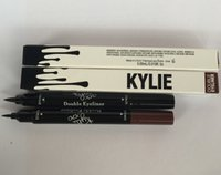 Wholesale 2016 newest High Quality Kylie liquid eyeliner Brown and Black in gel eyeliner High quality