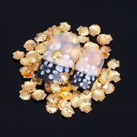 Cheap Metal Stickers For 3D Nail Art Decorations Flatback Tips Glue On Studs Beauty French Manicure Decals DIY Designs