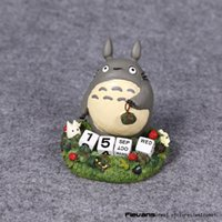 Wholesale Anime Cartoon My Neighbor Totoro Calendar PVC Action Figure Collectible Model Toy cm MHFG048
