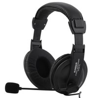 Wholesale Gaming Headset Game Music Headphone Earphone with Microphone Mic mm For PC Laptop Computer Black