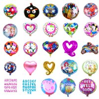 Wholesale All inch styles balloon Party birthday kids children balloons pet star letter animal helium foil balloon cm round all carton decoration