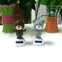 bear solar lights - Price Pieces Per Swing Under Full Light No Battery Flip Flap Novelty Toys Home car Decoration Solar Powered Dancing Bears
