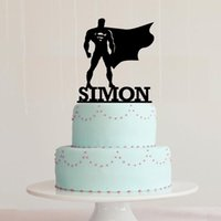 Wholesale Superman Superhero Cake Topper Custom Personalized With Your Last Name Multiple Color Optional Be sure to customize name