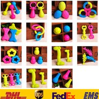 Wholesale 15 Style Pet Dog Puppy Cat Rubber Dental Teeth Chews Bone Play Training Fetch Fun Toys HH T21