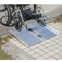 wheelchair ramp - Folding Portable Mobility Wheelchair Threshold Ramp