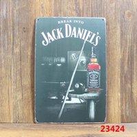 Wholesale Jack paiting Tin Sign Bar pub home Wall Decor Retro Metal Art Poster