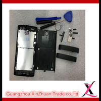 Wholesale Full Housing Front Cover Middle Plate Battery Door buttom Cap For Sony Xperia Ion LT28i LT28H LT28
