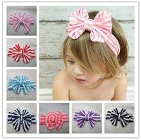 america twist - 2016 Infant Newborn BabyGirls Headband Children Rabbit Ears Hairband Bow Twist Head Wrap Turban Knot America Flag Headband