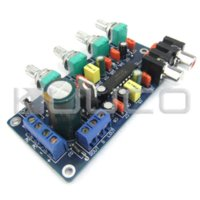 Wholesale 5 Channel Bass Treble Volume Controller Preamplifier Board Dual Dual AC10 V or Dual DC12 V Sub Woofer Amplifier