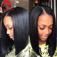 Wholesale Bob Short Human Hair U Part Wig Peruvian Virgin Hair U Shape Bob Wigs For Black Women Bob Wig None Lace For Sale
