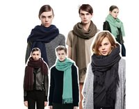 Pashmina acne fashion - Autumn new style scarfs for women Warm shawls Acne cashmere scarf solid color Large shawl long section Designer brand Scarves