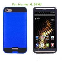 al por mayor cepillos x5-Para BLU tablero x lte Para blu neo XL D110U Para blu studio x6 Para blu studio x5 Armadura híbrido cepillado caso cubrir