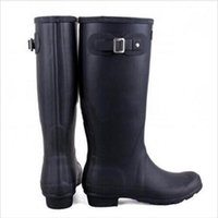 army boots for women fashion - Authentic H Fashion Rain Boots Glossy Waterproof Women Wellies Boots Woman Rainboots Shoes for Rain Boots and Hiking Outdoor DHL Free