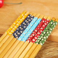 Wholesale Hot sale Bamboo Chopsticks Pairs Japan Cherry Blossoms Bamboo Eco Friendly Chopsticks Chop Sticks Kitchen Tableware